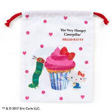 SANRIO HELLO KITTY X THE VERY HUNGRY CATERPILLAR COTTON DRAWSTRING BAG 745987