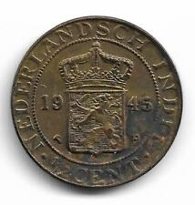 Netherlands East Indie Half Cent 1945 Coin. NH08