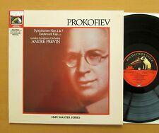 EG 29 0298 1 Prokofiev Symphony 1 & 7 Lieutenant Kije Andre Previn NEAR MINT