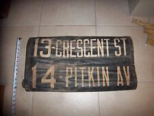 NYC BUS TROLLEY SIGN BROOKLYN CRESCENT STREET PITKIN AVENUE URBAN NY ROLL SIGN