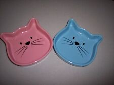 Whisker City Cat Face Shape Food Dishes-Set of 2