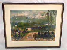 Antique Louis Prang Civil War Aquarelle Chromo Lithograph Battle of Kenesaw Mtn