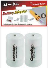 Convertisseur plastique de piles ou accus transforme les AA R6 en Format D / R20
