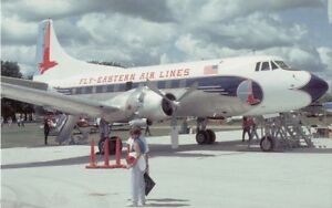 Eastern Airlines Martin 4-0-4 jet airplane postcard