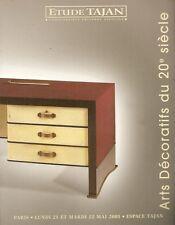 Tajan Arts Decoratifs du 20e Siecle Paris Design Deco Auction Catalog 2001