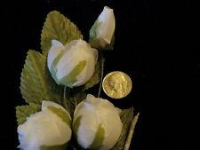 Vintage Millinery Flower Rose Spray Ivory White for Hat Wedding or Hair C31