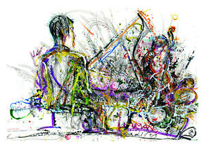 """Human Lives"" Original Jazz Print created onstage by Jeff Schlanger"