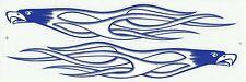 PLANCHE TUNING 2 AUTOCOLLANT STICKER TRIBAL AIGLE BLEU ET BLANC DIM. 26 X 4 CM