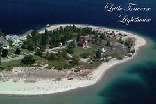 Little Traverse Lighthouse Harbor Point, Michigan H. Springs Entrance - Postcard