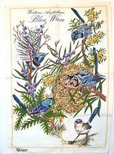 Lovely Western Australian Blue Wren Tea Towel