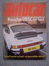 Autocar (17 Dec 1977) Porsche 911SC, flat 12 engine, De Tomaso, Mistubishi, Ford