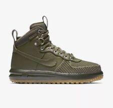 Nike Lunar Air Force One 1 Duckboot SZ 9.5 Dark Green 805899-201 Olive AF1