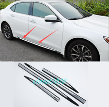 For Acura TLX 2015-2019 4PCS Black ABS Side Car Door Body Molding Streamer Trim