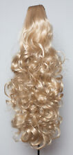 PONYTAIL Claw Clip In On Hair Piece Extension Ash Blonde REVERSIBLE 4 Styles
