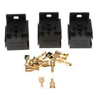 3pcs Auto Car Automotive  Relay Socket 40A 5PIN +15pcs Terminals