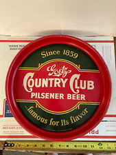 Country Club Beer Serving Tray From Goetz Brewing Co In St Joseph Kansas City Mo