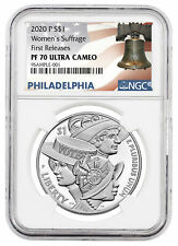 2020 P Women's Suffrage Commemorative Silver Dollar NGC PF70 FR Liberty Label