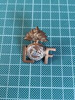British Army WW1 Brass Shoulder Title - Officers Lancashire Fusiliers