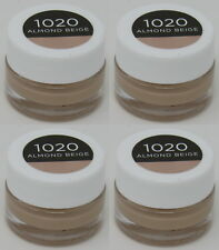 NEW 4-PACK Burt's Bees Goodness Glows Liquid Foundation 1020 Almond Beige .25 oz