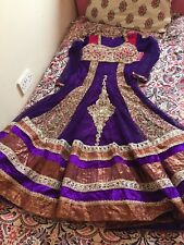 A Pink and Purple Pakistani/Indian Style Bridemaid Dress With Diamonte and Lace