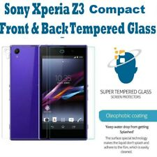 Genuine Tempered Glass Screen Protector Front & Back for Sony Xperia Z3 Compact