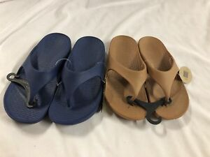 2 pairs Pali Hawaii Thong Sandals.One Navy&One Brown,Water Proof Beach Flipflop