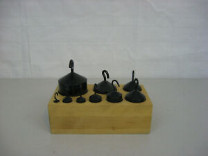 Vintage Cenco Balance Scale Weights-9 Pieces