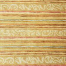 Cider Mill Road Nancy Halvorsen Apple Stripe Tan Cotton Remnant 45 X 14 #005