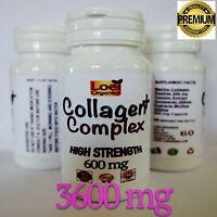 Marine Collagen Peptide 3600 mg + Lycopene Anti Ageing Wrinkle, Healthy Skin