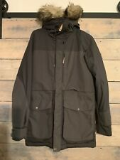 FJALLRAVEN Barents Parka M DARK GREY Hydratic Hooded Fur WINTER Jacket Coat