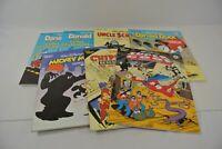 Walt Disney's Comic Album #1 2 3 4 5 8 Donald Duck Mickey Mouse Scrooge Lot of 7