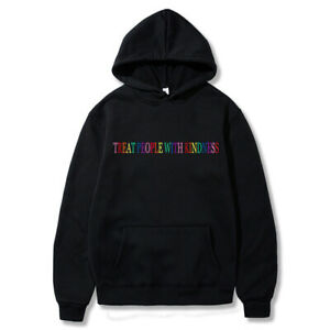 Harry Styles Treat People With Kindness Hoodie Men Rainbow Hooded Sweatshirt Top