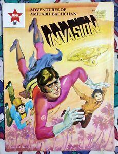 Rare Star Comics INVASION Amitabh Bachchan Supremo Superhero Bollywood India