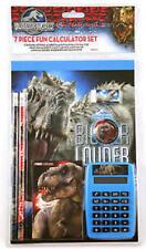 New Jurassic World Dinosaurs 7 PC Fun Calculator Set Ages 5 & School Supplies