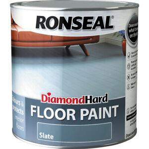 Ronseal diamond hard floor paint 2.5ltr slate wood concrete stone floors