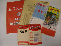 SCHWINN CATALOG, Parts and Accessories CATALOG REPRINT PRICE LIST PRICE TAG,