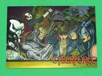 1993 CYBERFORCE WIZARD MAGAZINE 2 CHROMIUM PROMO CARD #4 SILVESTRI GOLD VERSION!