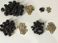 30mm 2mm Metal Washers Black Plastic Animal Eyes for Bears /& Other Crafts