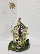 New listing Blue Sky Clayworks Heather Goldmine Dragon Fly Cottage with Base Tea Lite