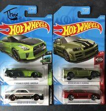2018-2019 Hotwheels Nissan Skyline GTR Lot! Near Mint To Mint Condition! Tfox