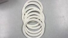 "White Silicone Sanitary Tri Clamp Gaskets 4"" Tri Clover 40Mpx Apex 5326-S"