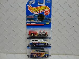 Hot Wheels Lot Of (3) Trailer Edition Cars Way 2 Fast, Dodge, & Dairy Delivery
