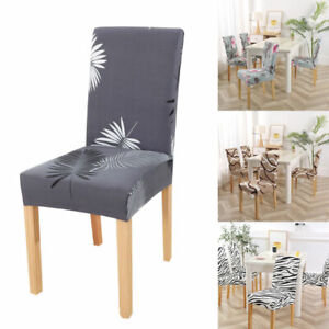 Universal Spandex Stretch Dining Chair Seat Cover Floral Printed Slipcover Decor