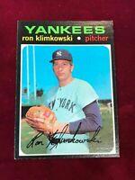 1971 Topps #28 RON KLIMKOWSKI New York Yankees EX (JN12)
