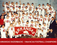 Arkansas Razorbacks - 1964 NCAA FOOTBALL CHAMPIONS, 8x10 Team Photo