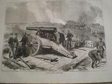 GUERRA FRANCO PRUSSIANA BATTERIA PRUSSIANA prima di Parigi 1871 Print ref Z3
