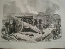 FRANCO Prussiano Guerra Prussia BATTERIA prima di Parigi 1871 stampa ref Z3
