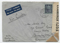 1942 Switzerland cover airmail to England via Lisbon [y1779]
