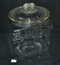 ThriftCHI ~ Vintage Planters Peanuts Jar Clear Glass
