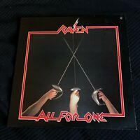 Raven – All For One LP vinyl  NWOBHM 1983 heavy metal MR1-269